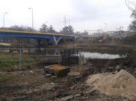 Trwająca już budowa nowego mostu nad Kanałem Bydgoskim
